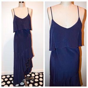 Intermix Asymmetric Blue Dress